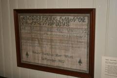 A sampler made by a Plymptonian