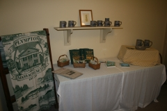 Display of items for sale at PHS' building