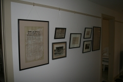 Historical photos and documents on display