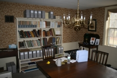 Library room at the Plympton Historical Society