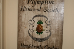 Original Plympton Historical Society\'s sign