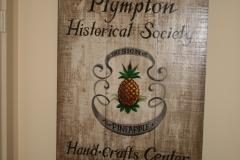 Original Plympton Historical Society\'s sign