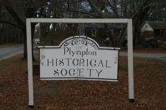 Previous Plympton Historical Society's sign